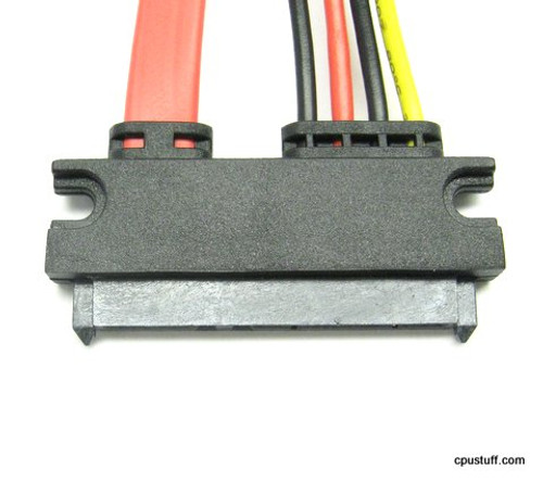 22 pin SATA socket to 4 power wires 14 inches blunt cut