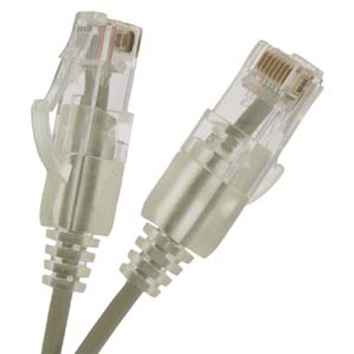 0.5Ft Cat6 UTP Slim Ethernet Network Booted Cable Gray