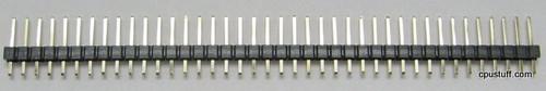 Pin Header 1X20 Breakaway Single Row Gold Flash (S20-6A-11)