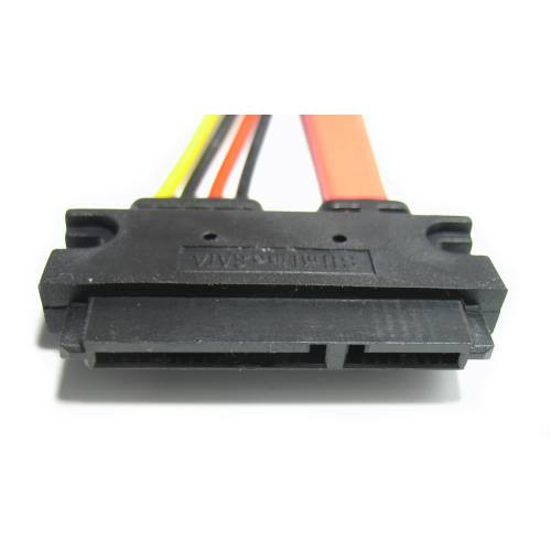 22 pin SATA cable assembly  7+15 female connector