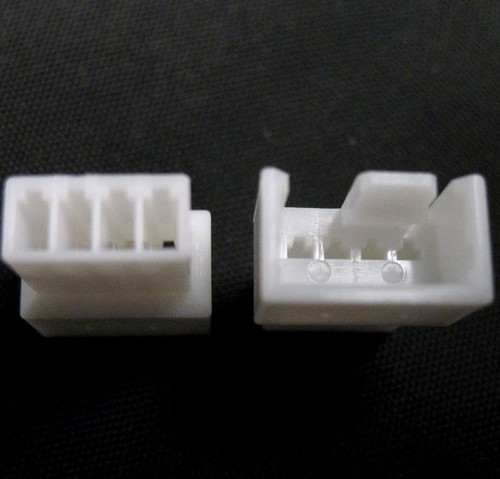 4 pin fan connector with 5 contacts white.