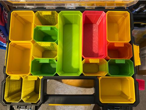 DeWalt / Stanley FatMax Deep Pro Organiser Long Bins And Short Bins