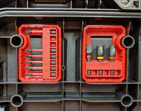 Milwaukee Packout Tool Box Lid Bit Holders