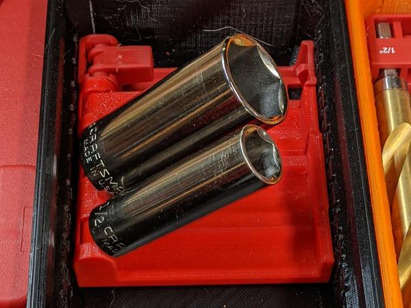Socket Holders for Milwaukee Shockwave Case and Packout Bin