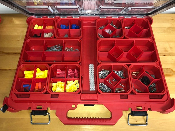 Milwaukee Packout Slim Organiser With Dividers & Centre Cups