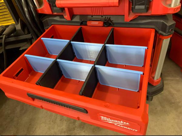 Milwaukee Packout 3 Drawer Divider Set