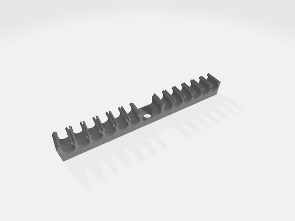 Cat 5 & Cat 6 Screw On Cable Comb / Organiser / Clips(Pack of 10)