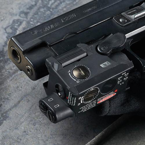 BEAMSHOT X1-G Green Laser Sight on Pistol