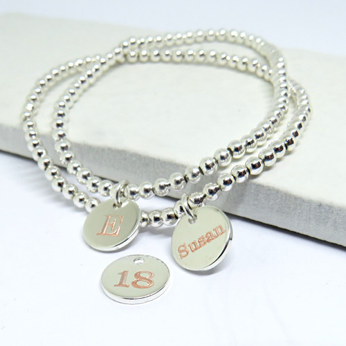 Personalised stacking bracelet - A unique gift for a special occasion whether it is for a women or teenage girl on her birthday Christmas, Valentines gift or for Mother's day.