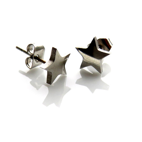 Silver star stud earrings trade Dropshipping UK