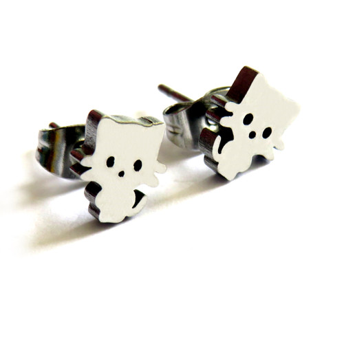 Kitty Cat Stud Earrings trade dropshipper UK ayedogifts.co.uk