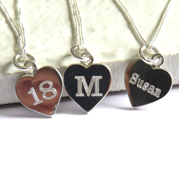 Personalised engraved necklace a lovely gift for her on a special day whether it's for women's wedding, a girls birthday or as a leaving teachers gift.