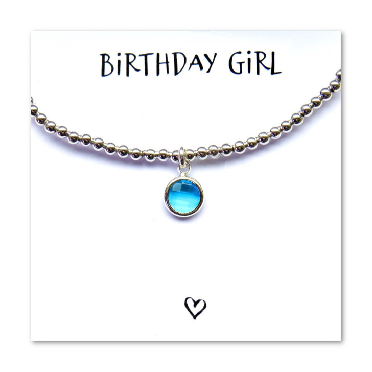 December Birthstone charm bracelet is a great gift for her birthday on a message card.