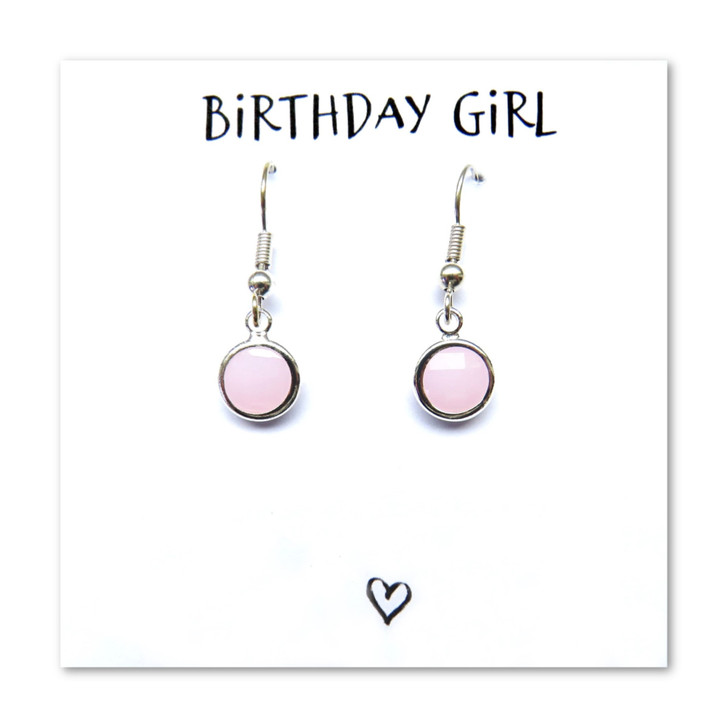 Birthstone earrings  a great gift for a women or girl presented on a message gift card, whether it is the birthday girls 16th,18th or 40th birthday these are a great gift from a special friend, sister, mum or boyfriend.