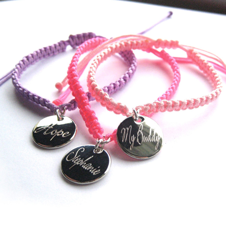 A great gift for a girl or women, the script personalised friendship bracelet is ideal gift for a teenage girls birthday, a little girls Christmas or for a mum on Mothers Day.UK handmade