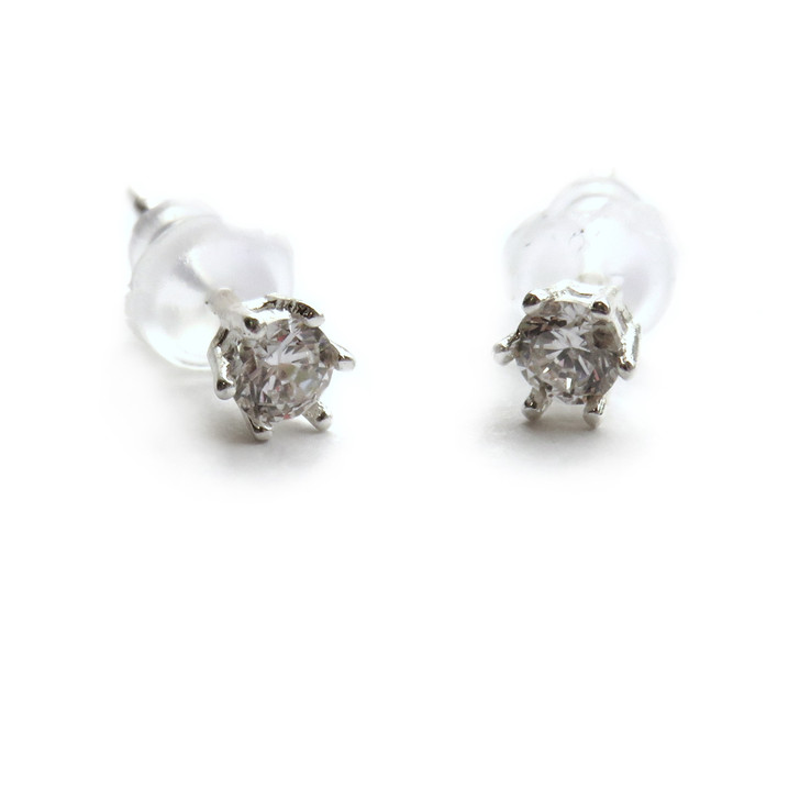 Sterling Silver Diamante Stud Earrings trade drop shipping UK ayedogifts.co.uk