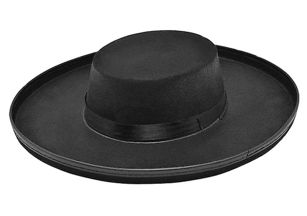 Adults Budget Black Felt Highwayman Bandit Zorro Vendetta Style Fancy Dress  Hat a1847bd026d
