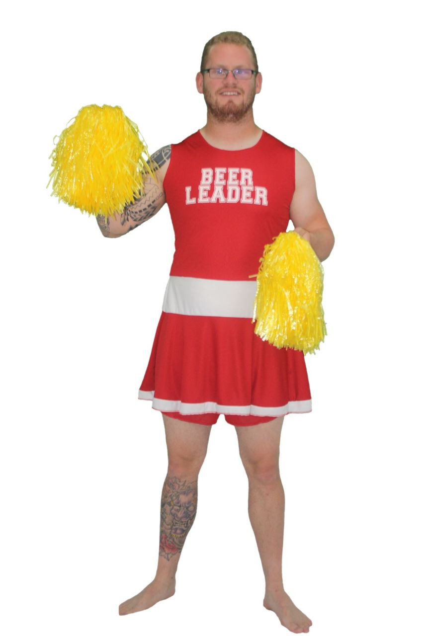 cfed58eb5afd7 Mens Red Beer Leader Dress - Fancy Dress Funny Stag Party Costume ...