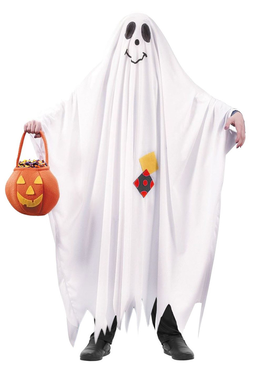 Kids Friendly Ghost Costume Bed Sheet Style Funny