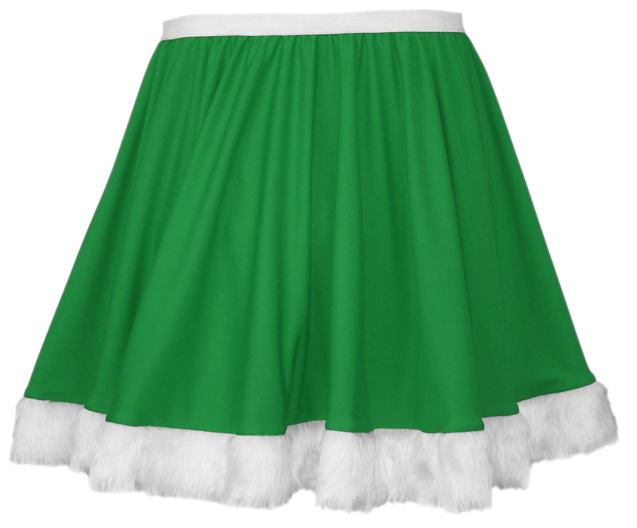 Ladies White Erskine Tartan Full Circle Skater Skirt With Elasticated Waistband