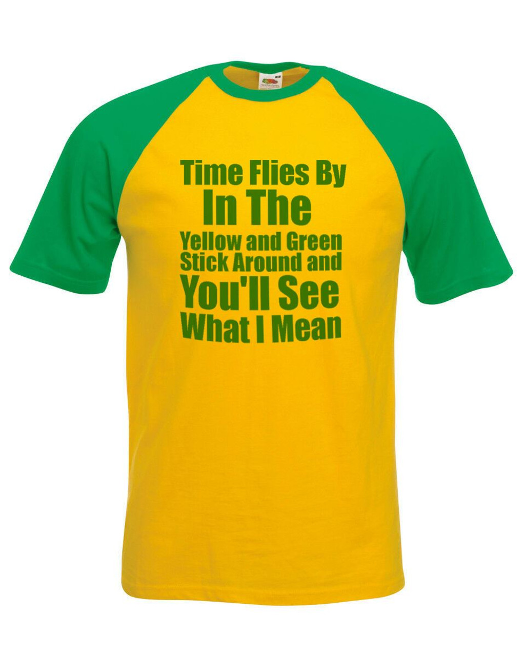 fe897774 Unisex Yellow & Green George Ezra T-Shirt Shirt Time Flies By Stick Around