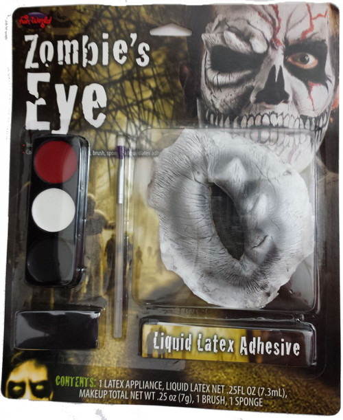 Zombie Grave Robber Wig Long Grey hair and Vinyl Cap