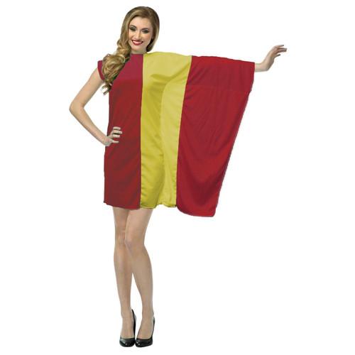 bcae44951d42 ... Ladies Spain Flag Fancy Dress Spanish Patriotic Costume Sports Supporter