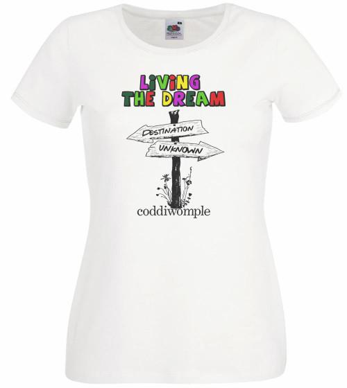 Ladies Grey Coddiwomple English Slang Tshirt Backpacker Wanderer Nomad Shirt