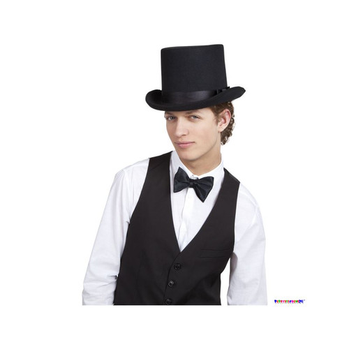 FANCY DRESS ACCESSORIES = DELUXE SATIN BOWLER HAT