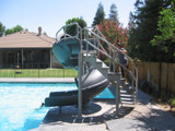 Large commercial or residential swimming pool flume