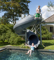 The Vortex a large commercial or residential swimming pool slide