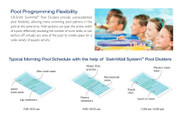 Swimming pool dividing walls