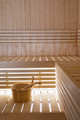 Wooden Sauna Ladle paired with pail