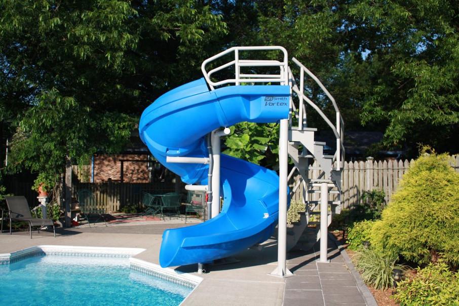 S.R. Smith Vortex Commercial Spiral Swimming Pool Slide (Vortex Blue)