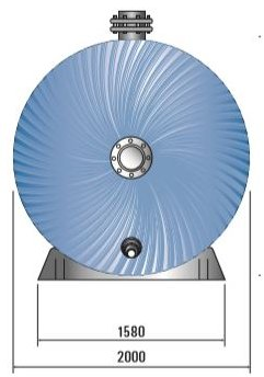 Certikin HLX Horizontal Commercial Pool Filter end dimensions