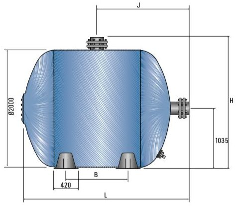 Certikin HLX Horizontal Commercial Pool Filter side dimensions