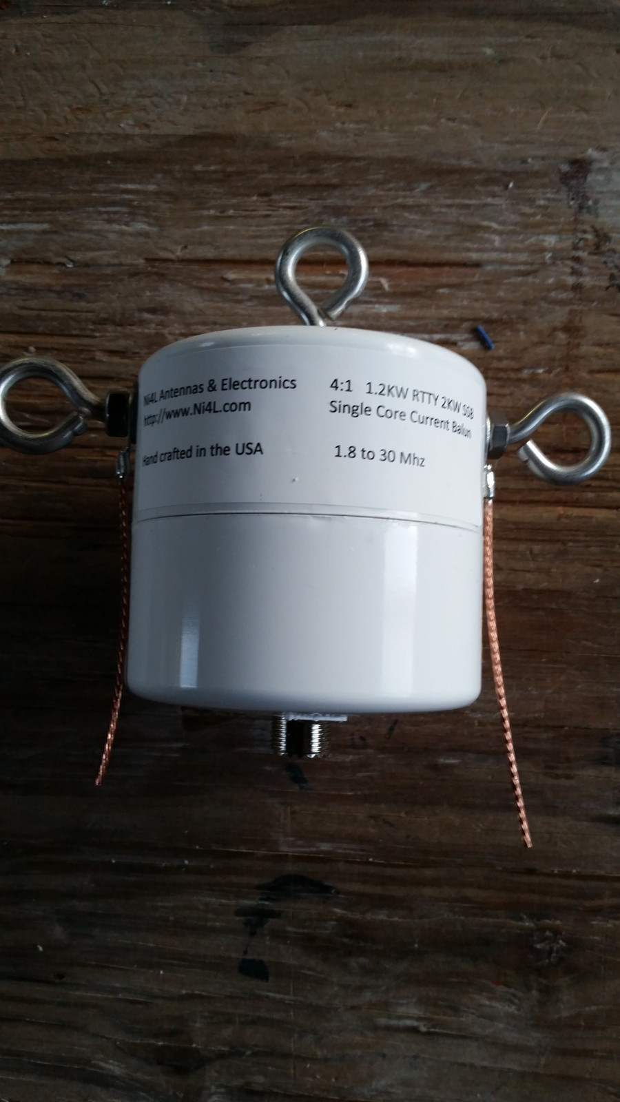 Ni4L single core FT-240/61 core  legal limit 4:1 balun