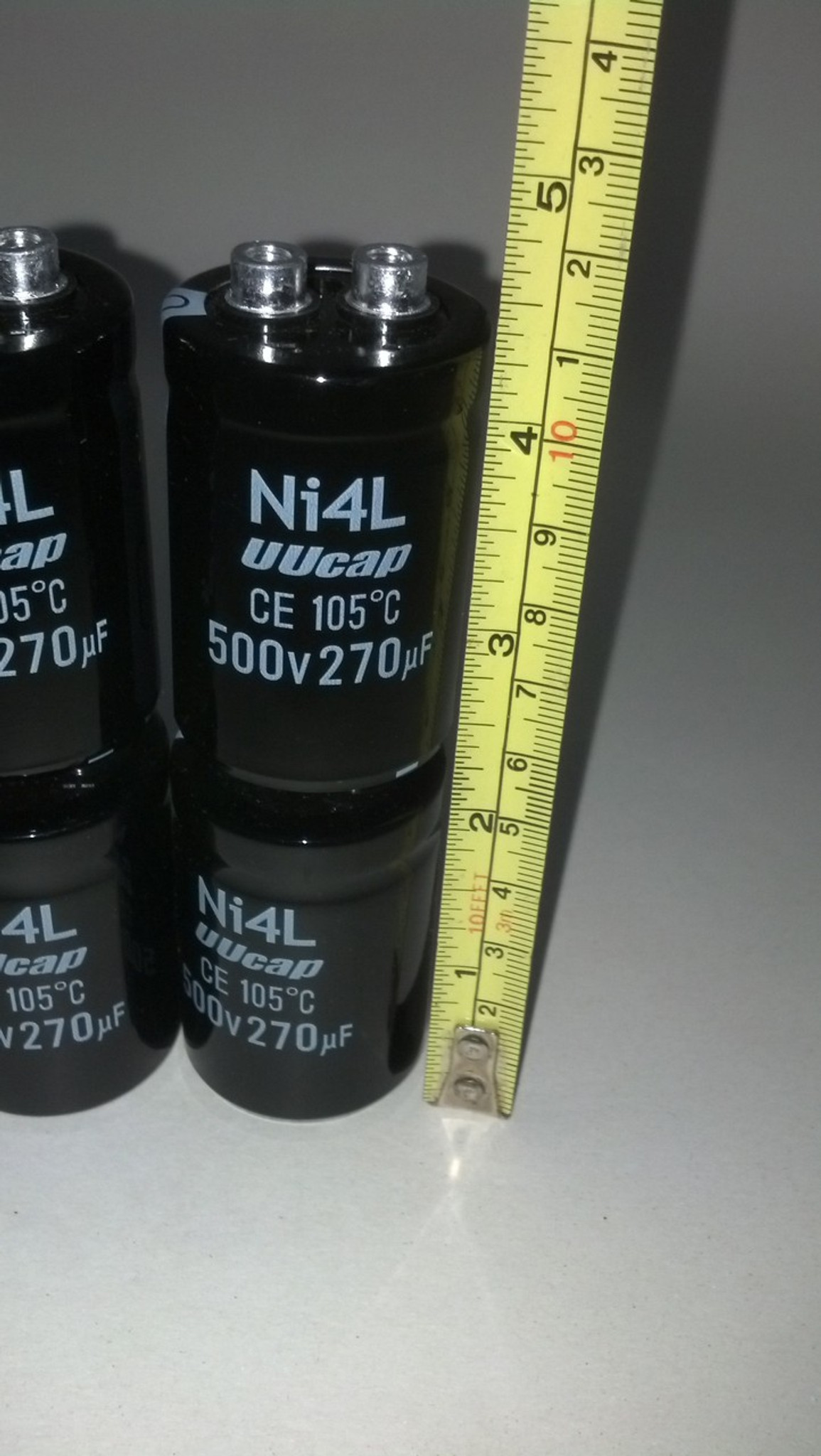 Capacitor 500v @ 270uf 105 degree C Capacitor lot of 8