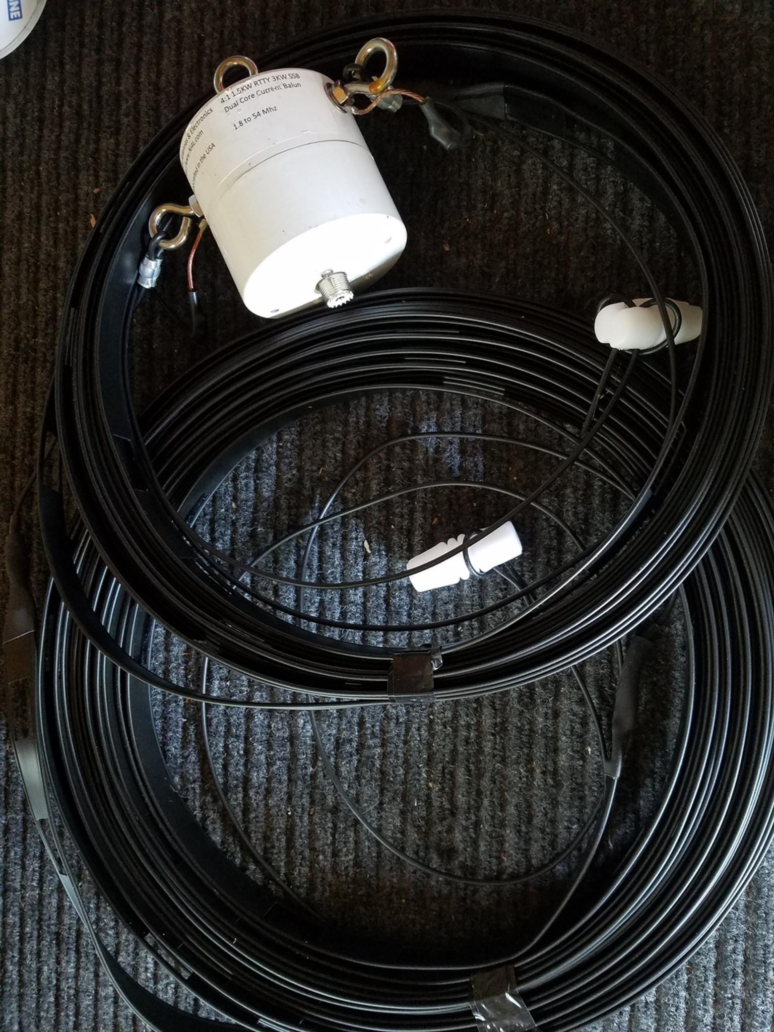 10 Meter band Half Wave Antenna  1:1 Balun Dipole HF Flex-Weave Unadilla W2AU