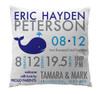 Pillow-Birth Announcement-Whale