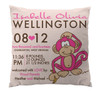 Pillow-Birth Announcement-Monkey