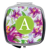 Compact Mirror- Purple Floral Pattern