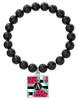 Watermelon Stripes Black Onyx Bracelet