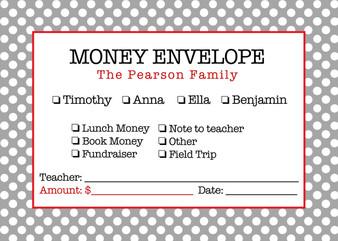 Money Envelopes - Polka Dot