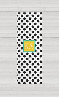 Yoga Mats - BW Polka Dots