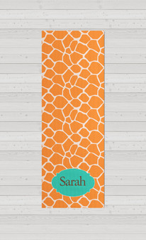 Yoga Mats - Orange Giraffe