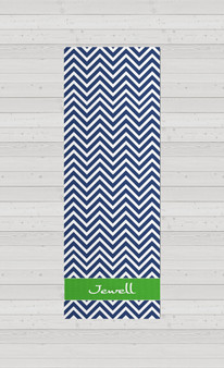 Yoga Mats - Navy Chevron