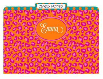 Folders-Orange Nantucket Leopard