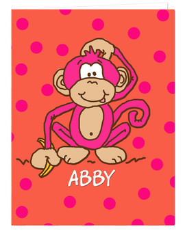 Pocket Folder - Hot Pink Monkey