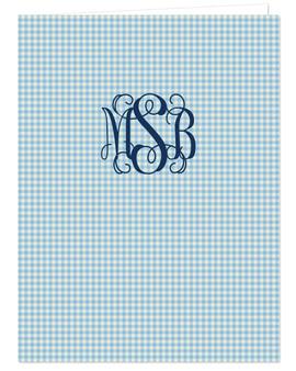 Pocket Folder - Sky Blue Gingham